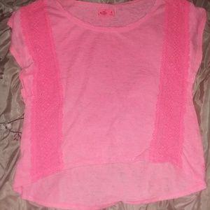 Hollister Pink Batwing Shirt Sz M
